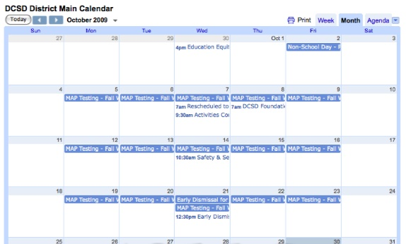school calendars. Tandem for Schools Calendar: